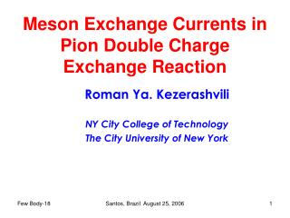 Meson Exchange Currents in Pion Double Charge Exchange Reaction