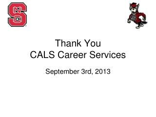 Thank You  CALS Career Services