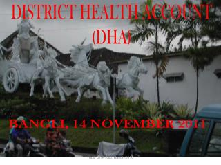 DISTRICT HEALTH ACCOUNT (DHA)