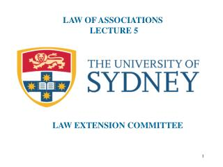 LAW OF ASSOCIATIONS  LECTURE 5