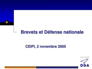 Brevets et D�fense nationale