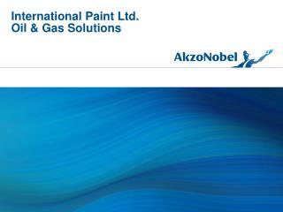 International Paint Ltd. Oil & Gas Solutions