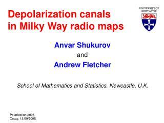 Depolarization canals in Milky Way radio maps