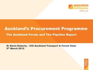 Auckland�s Procurement Programme