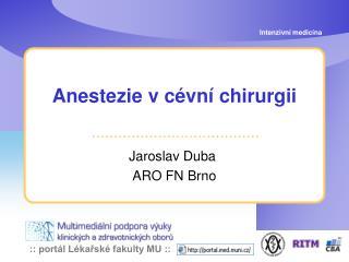 Anestezie v c�vn� chirurgii