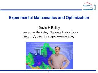 Experimental Mathematics and Optimization