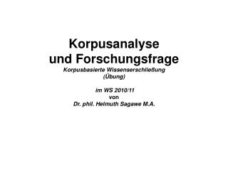 "Definition von ""Korpus"""