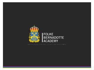 Dr. Richard Zajac Sannerholm, Folke Bernadotte Academy
