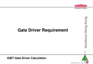 IGBT Gate Driver Calculation