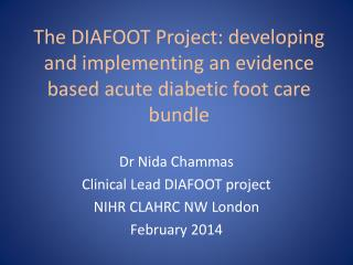 The DIAFOOT Project: developing and implementing an evidence based acute diabetic foot care bundle