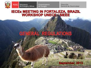 IECEx  MEETING IN FORTALEZA, BRAZIL WORKSHOP UNECE / SIEEE