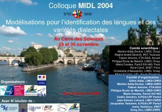 Colloque  MIDL 2004 Modélisations pour l'identification des langues et des variétés dialectales