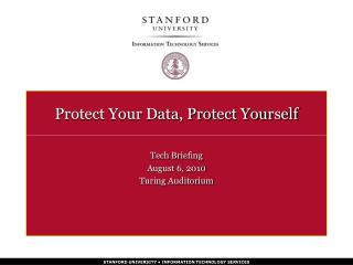 Protect Your Data, Protect Yourself
