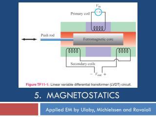 5.  Magnetostatics