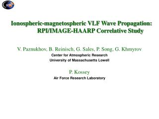 Ionospheric-magnetospheric VLF Wave Propagation: