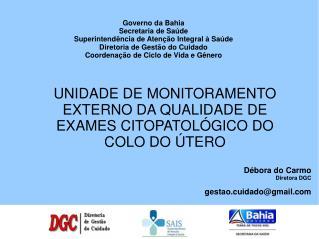 Governo da Bahia Secretaria de Saúde Superintendência de Atenção Integral à Saúde