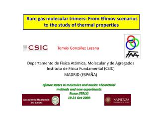 Rare gas molecular trimers: From Efimov scenarios to the study of thermal properties