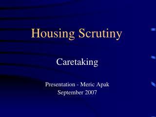 Housing Scrutiny