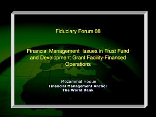 Fiduciary Forum 08 Financial Management  Issues in Trust Fund