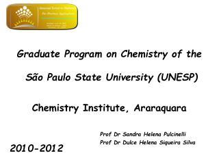 Graduate Program on Chemistry of the  São Paulo State University (UNESP)