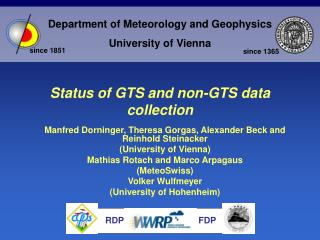 Status of GTS and non-GTS data collection