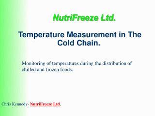 Temperature Measurement in The Cold Chain.