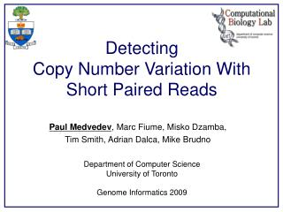 Detecting  Copy Number Variation With Short Paired Reads