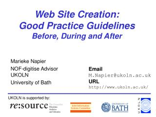 Web Site Creation:  Good Practice Guidelines  Before, During and After