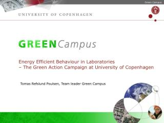 Tomas Refslund Poulsen, Team leader Green Campus