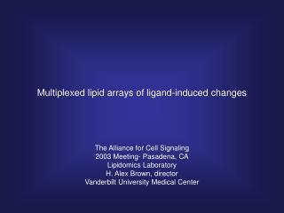 Multiplexed lipid arrays of ligand-induced changes