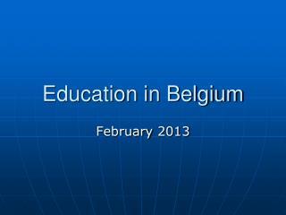Education in Belgium