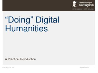 """Doing"" Digital Humanities"