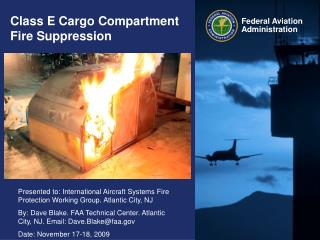 Class E Cargo Compartment Fire Suppression