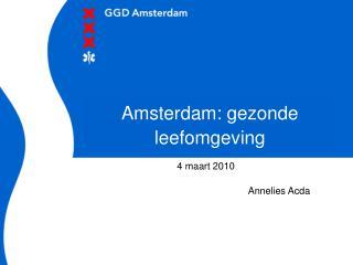 Amsterdam: gezonde leefomgeving