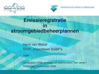 Emissieregistratie  in  stroomgebiedbeheerplannen