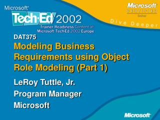 DAT375 Modeling Business Requirements using Object Role Modeling (Part 1)