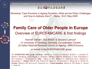 Family, Friend, and Neighbor Care A Framework for Public Support