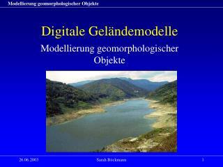 Digitale Geländemodelle