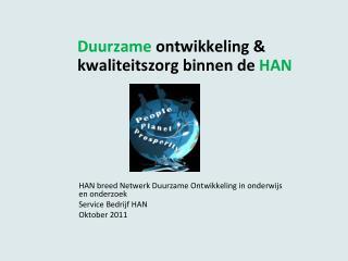 Duurzame  ontwikkeling & kwaliteitszorg binnen de  HAN