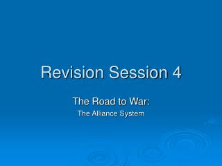 Revision Session 4