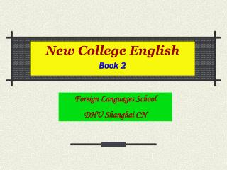 New College English Book 2