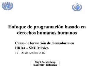 Enfoque de programación basado en derechos humanos humanos