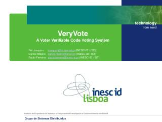 VeryVote A Voter Verifiable Code Voting System