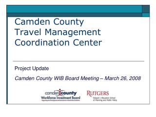 Camden County Travel Management Coordination Center