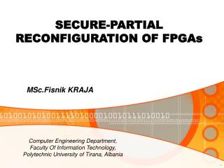 SECURE-PARTIAL RECONFIGURATION OF FPGAs