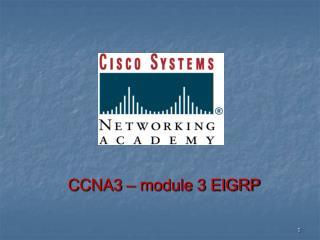 CCNA3 – module 3 EIGRP