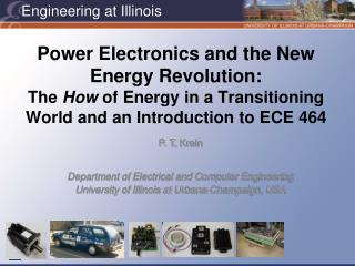 Power Electronics and the New Energy Revolution: