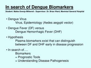 Dengue VirusVirus, Epidemiology (Aedes aegypti vector)