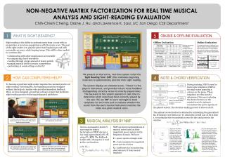 NON-NEGATIVE MATRIX FACTORIZATION FOR REAL TIME MUSICAL ANALYSIS AND SIGHT-READING EVALUATION