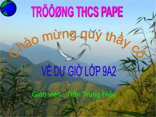 TR���NG THCS PAPE